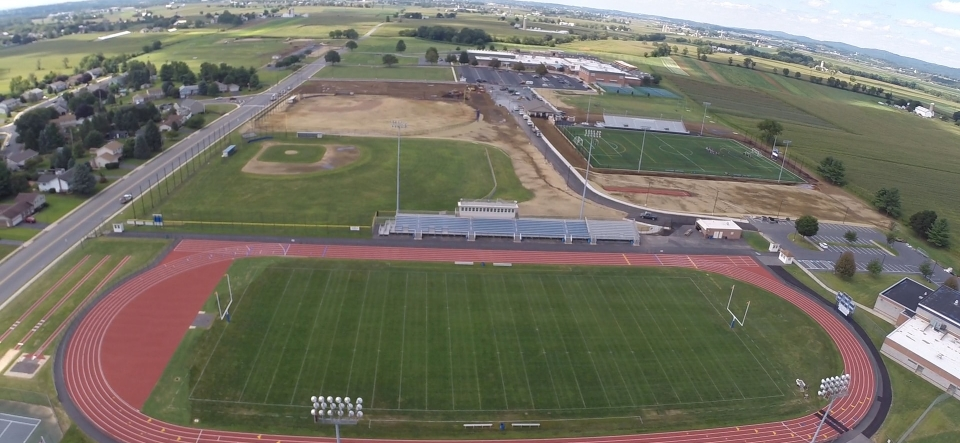 Athletic Fields, Parking and Walking Trails