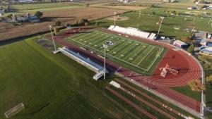 high school stadium and track