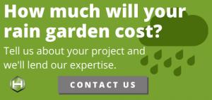how much rain garden cost