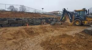 retaining wall for soil erosion