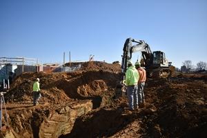digging sewer line